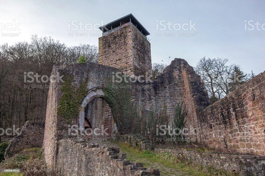 Ruin Hinterburg stock photo