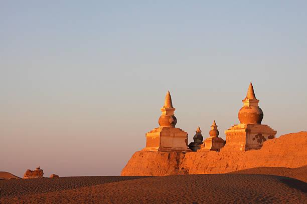 ruin in gobi desert stock photo