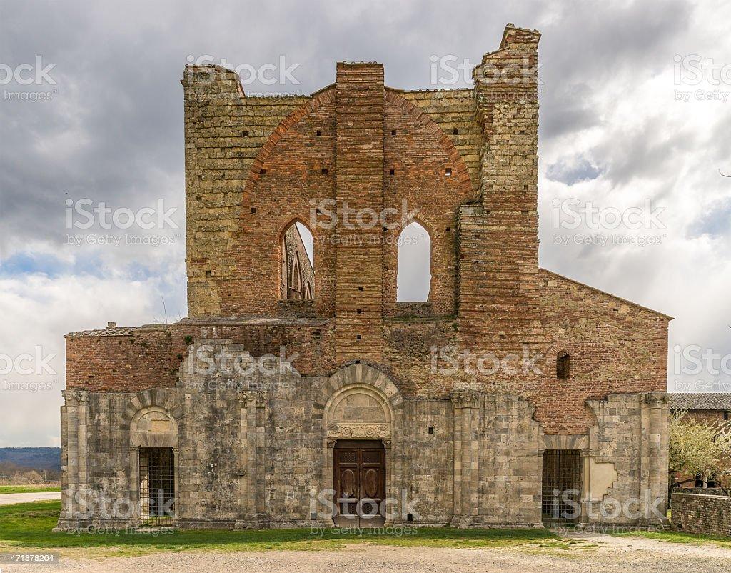 Ruin of a church stock photo