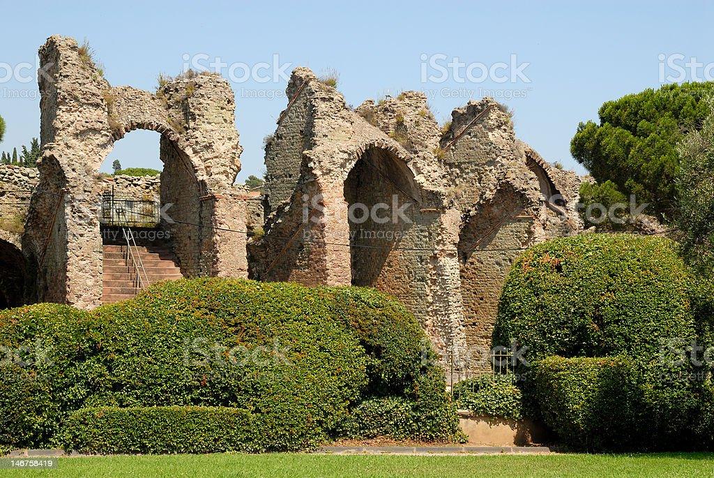 Ruin of a Roman arena royalty-free stock photo