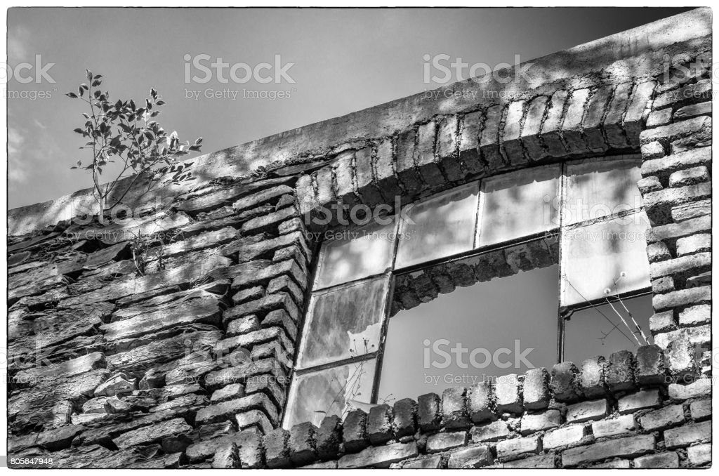 Ruin of an old Factory – Lost Places, Germany stock photo