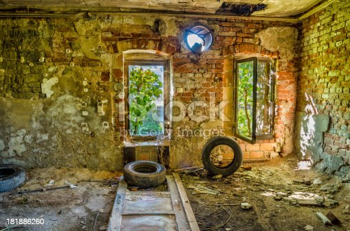 istock Ruin of an old factory 181886260