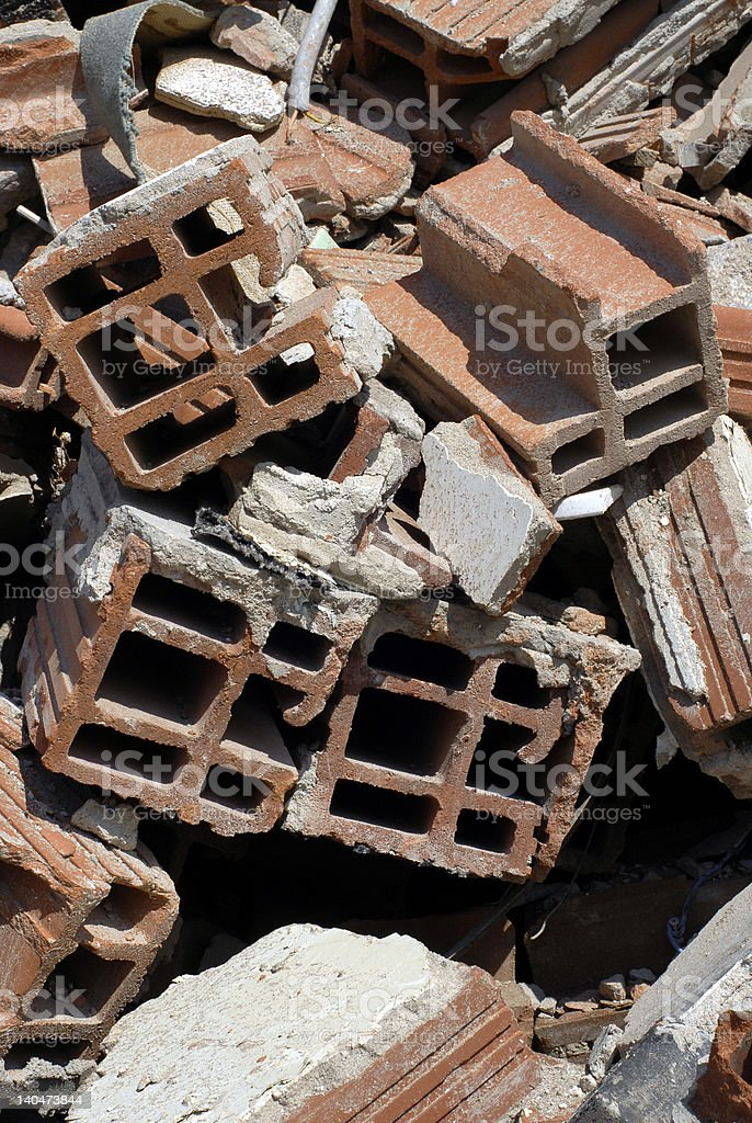 Ruin of an old school 2 royalty-free stock photo