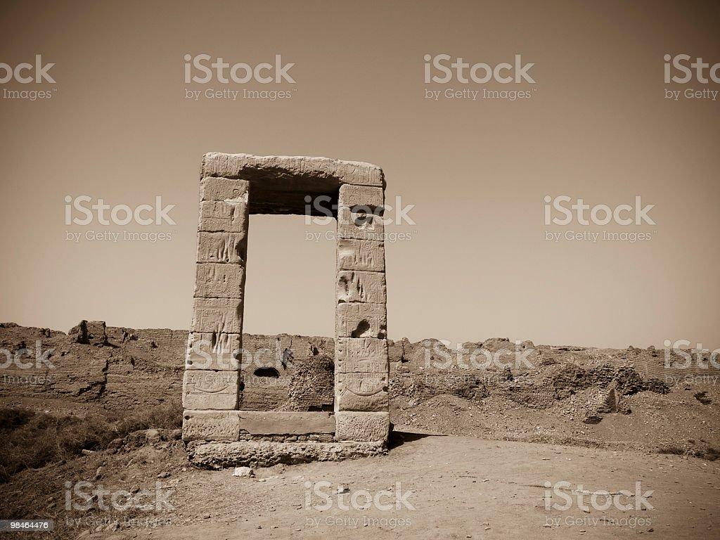 Ruin of Dendera Hathor temple royalty-free stock photo