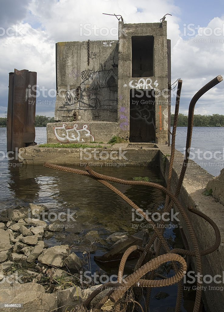 ruin of moorage royalty-free stock photo