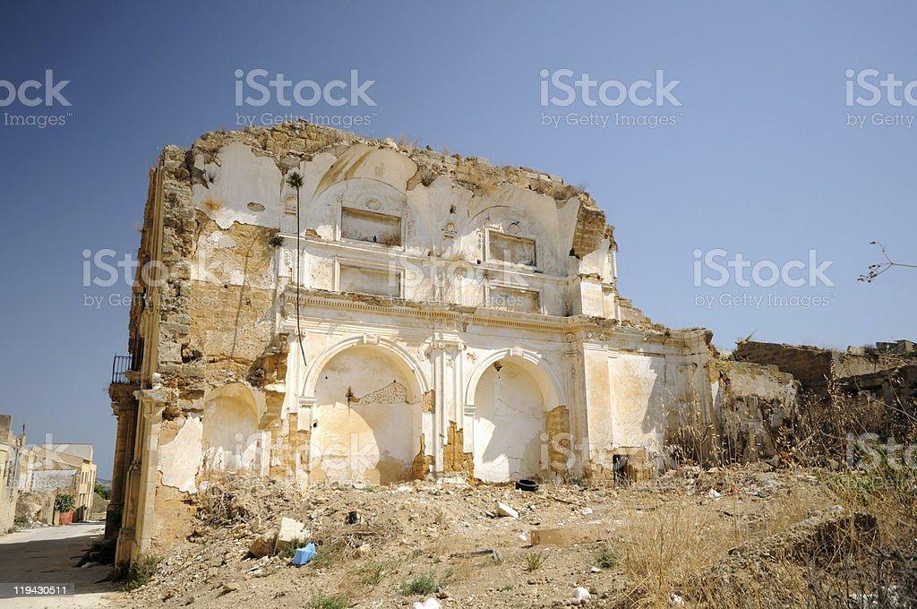 Ruin of Santa Margherita Belice royalty-free stock photo