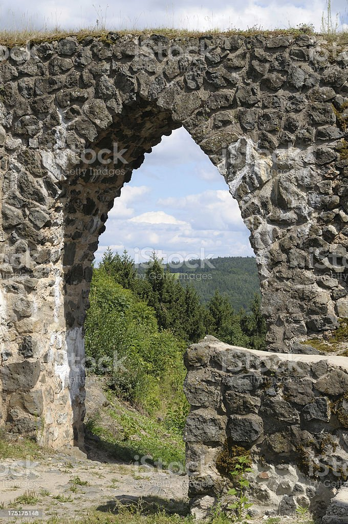 Ruin of Waldeck royalty-free stock photo