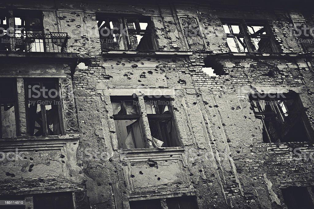 Ruin of War stock photo