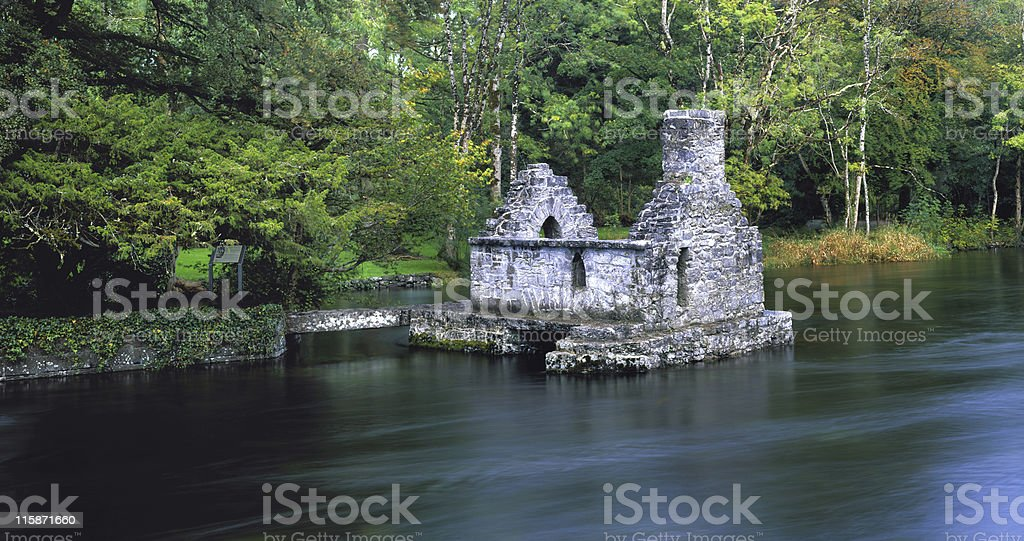 Ruin on river royalty-free stock photo