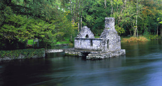 Ruin On River Stock Photo - Download Image Now