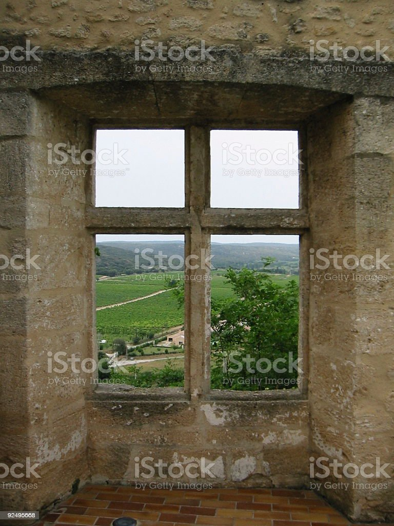ruin with a view royalty-free stock photo