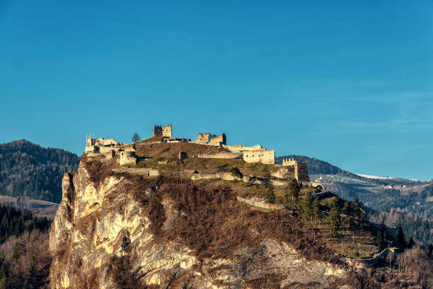 Ruine of the castle Griffen ruine of a castle on a rock above the village of Griffen, Carinthia, Austria ruine stock pictures, royalty-free photos & images