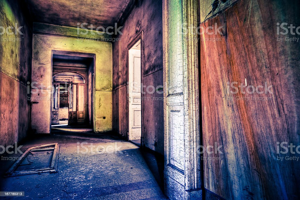Ruined Abandoned House royalty-free stock photo