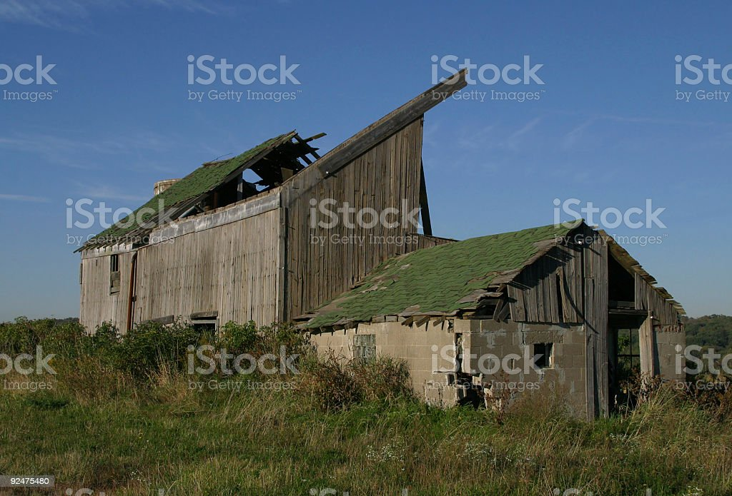 Ruined Barn and Shed royalty-free stock photo