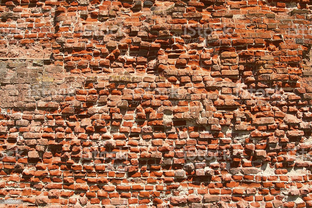 ruined brick wall royalty-free stock photo