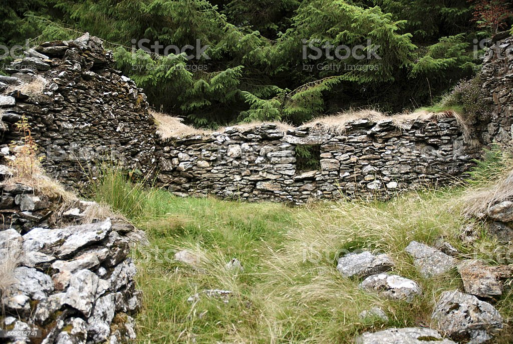Ruined building stock photo