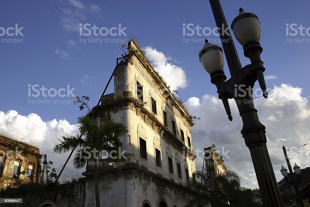 Ruined building royalty-free stock photo