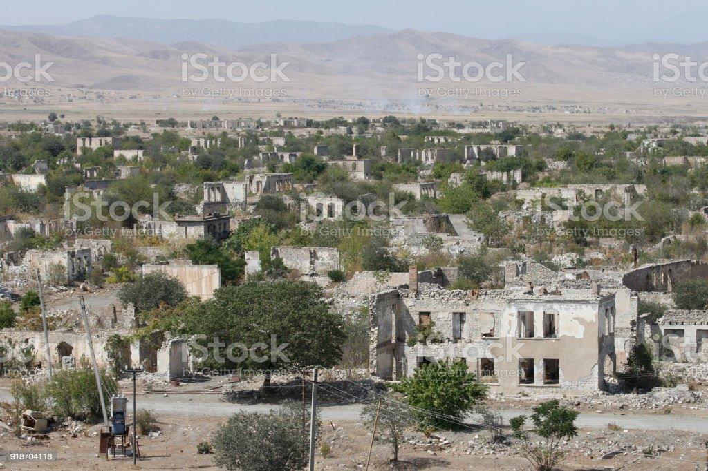 Ruined Buildings Of Ghost Town Agdam In Nagornokarabakh Stock Photo Download Image Now Istock