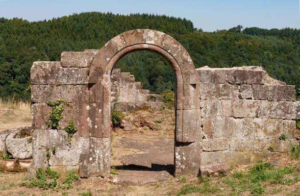 Ruined castle stock photo