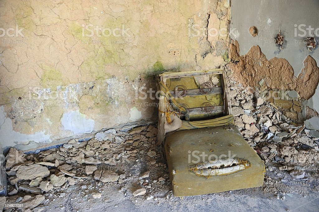 Ruined Chair royalty-free stock photo