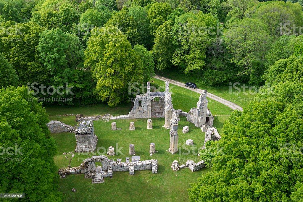 Ruiny kościoła na Montfaucon-d'Argonne, Francja – zdjęcie