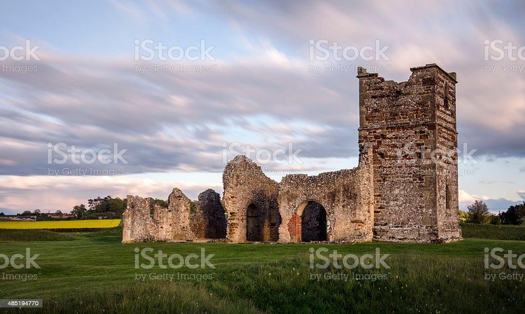 Ruined Church stock photo