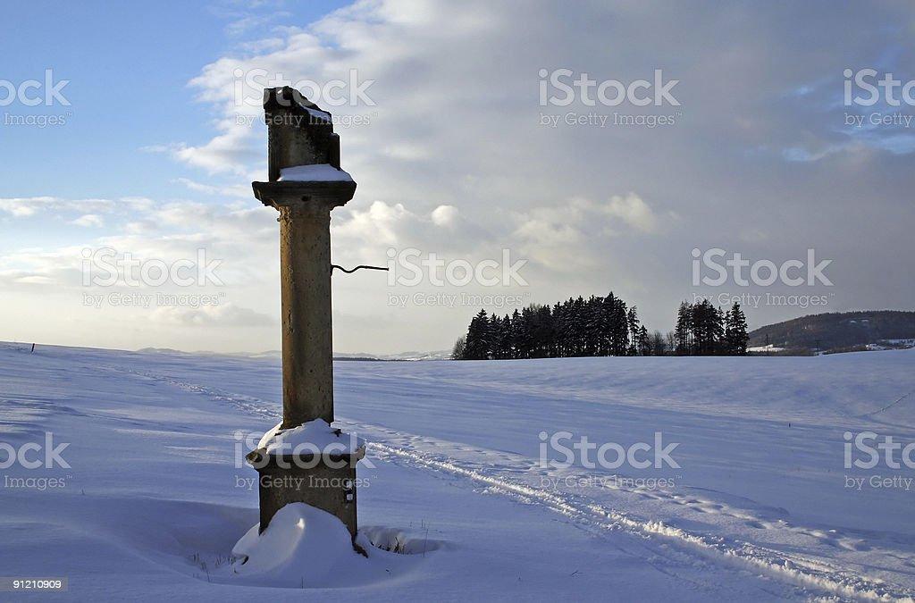Ruined column royalty-free stock photo