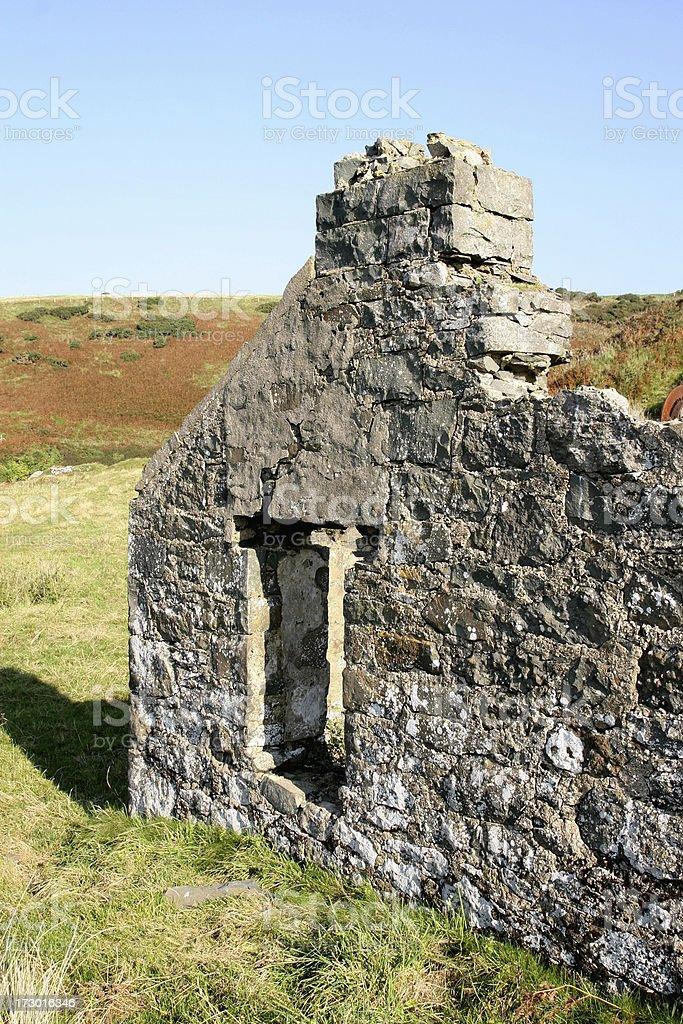 ruined cottage Llyen Peninsula North Wales royalty-free stock photo