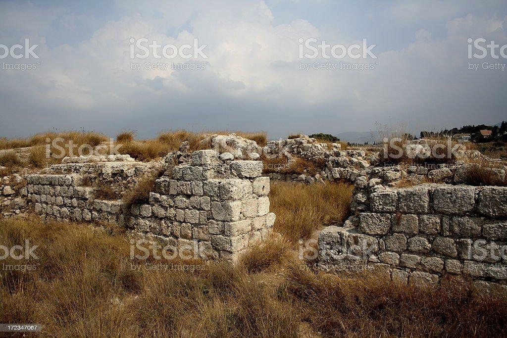 Ruined Crusader Walls royalty-free stock photo