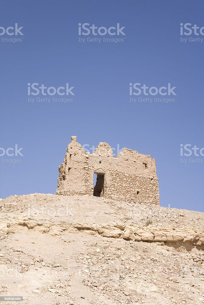 Ruined fortified granary Benhaddou,Morocco royalty-free stock photo