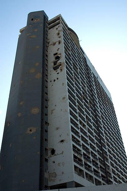 ruined house, beirut, lebanon - beirut explosion 個照片及圖片檔