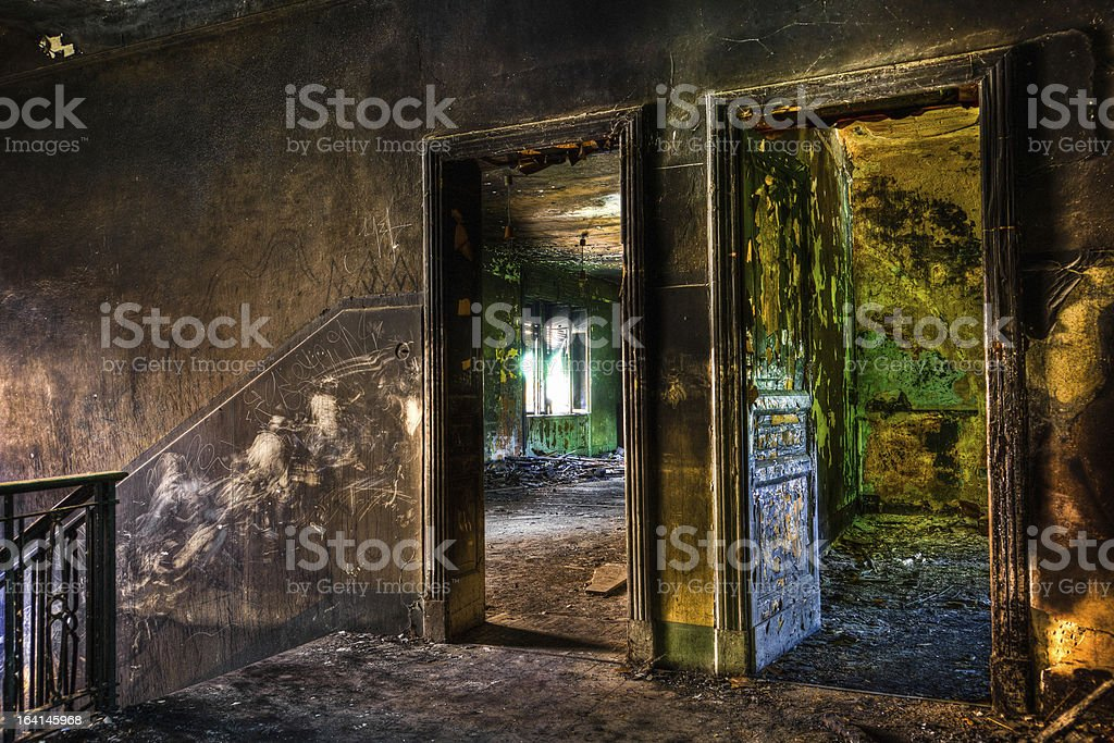 Ruined House Interior royalty-free stock photo