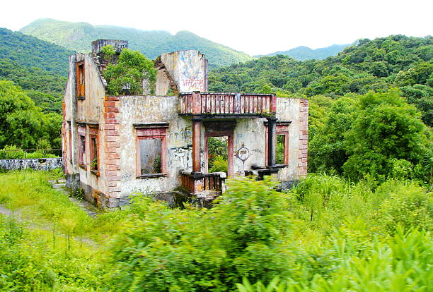 ruined house - desolated stock pictures, royalty-free photos & images