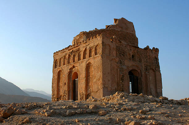 Ruined mosque, Oman stock photo