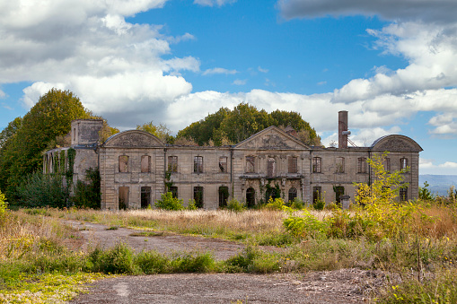 Ruined Of The Benedictine Abbey Of St Vincent In Laon Stock Photo - Download Image Now