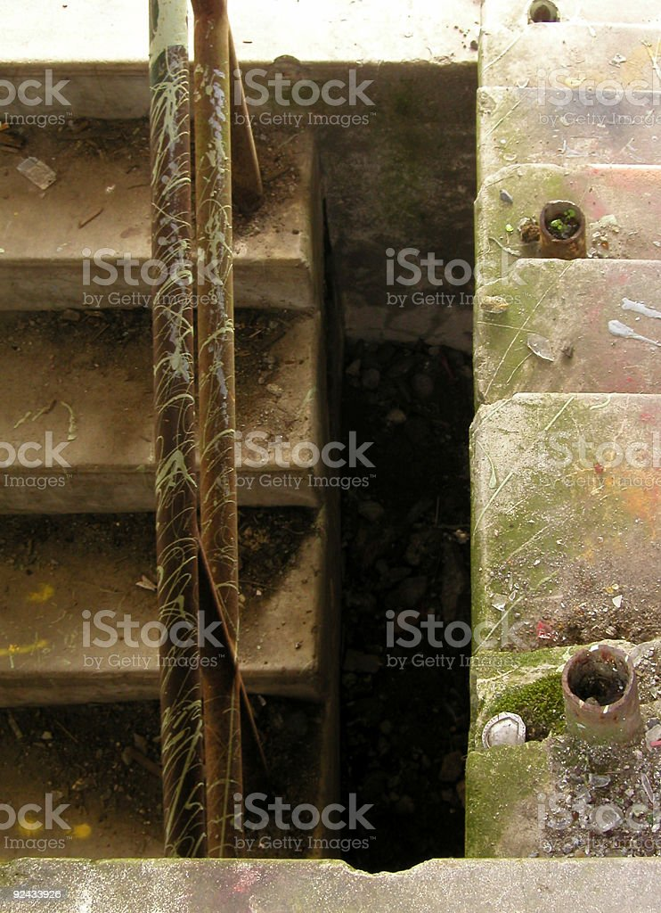 Ruined Stairwells royalty-free stock photo