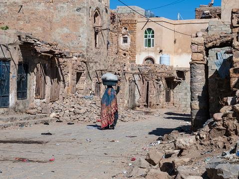 Ruined town in Yemen