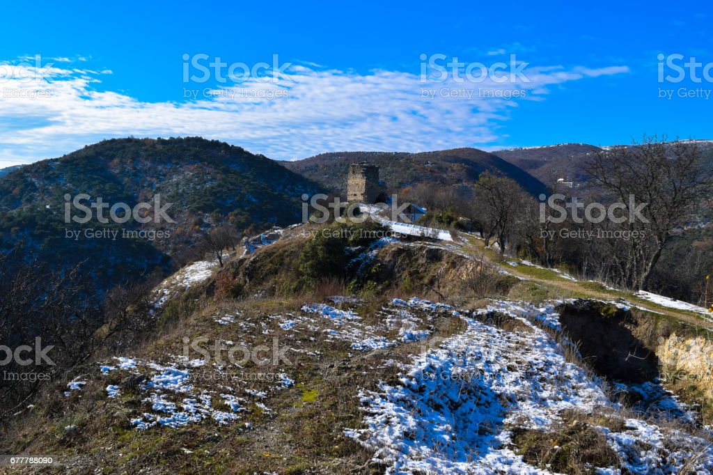 Ruins and archaeological site of Strumica fortress (Czar's Towers) royalty-free stock photo