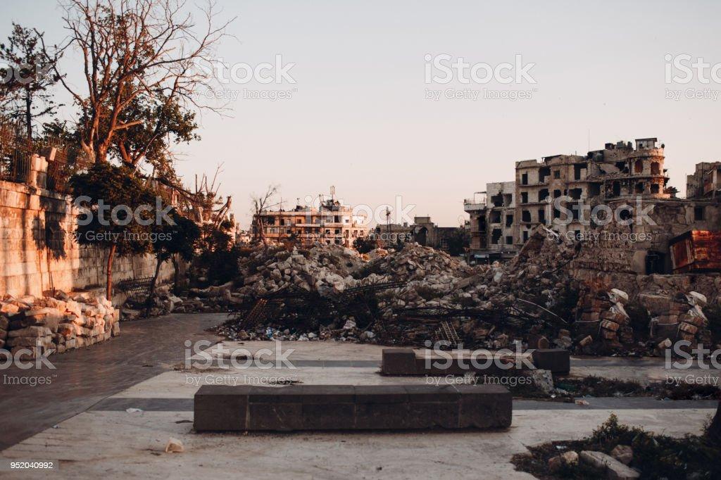 Ruines autour de la Citadelle d'Alep, Syrie - Photo