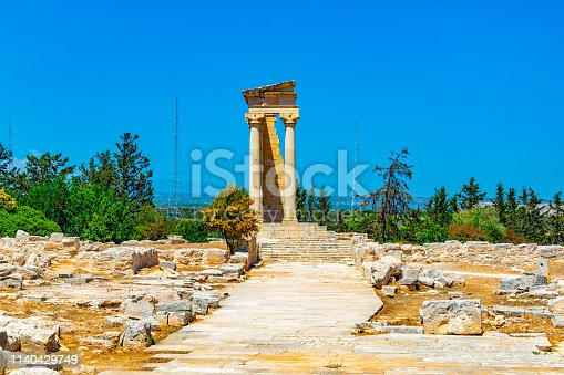 Ruins at compound of the temple of Apollo Hylates on Cyprus