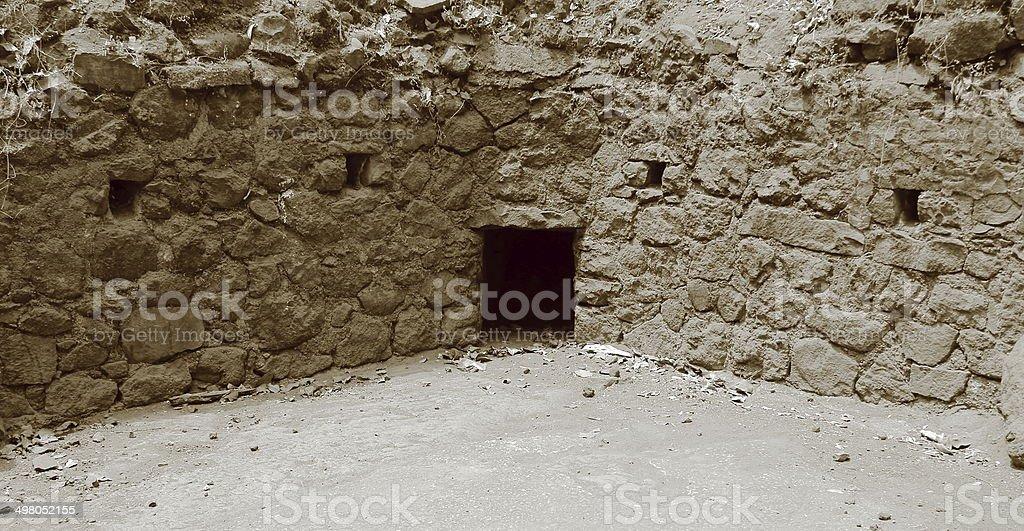 Ruins at elephanta caves, Mumbai, India royalty-free stock photo