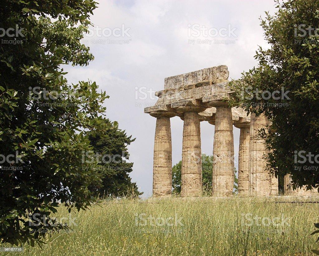 ruins at Paestum, Italy royalty-free stock photo