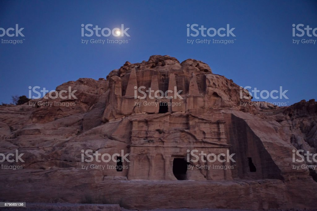 Ruins at Sunset in Petra stock photo