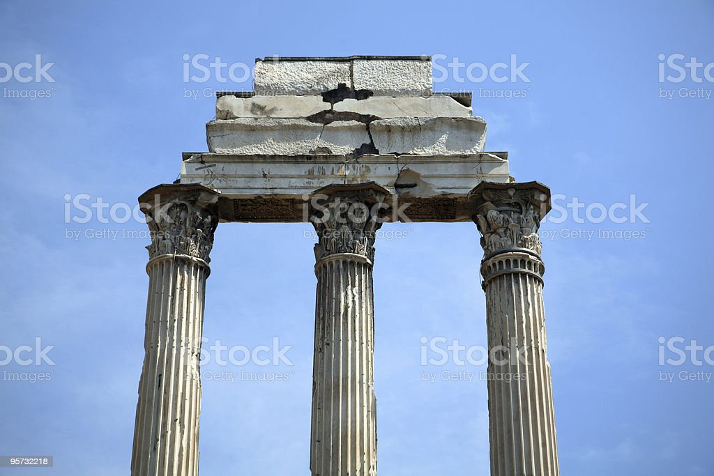 Ruins at the ancient Forum, Rome, Italy stock photo