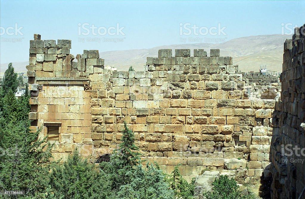 Ruins, Baalbeck, Lebanon royalty-free stock photo