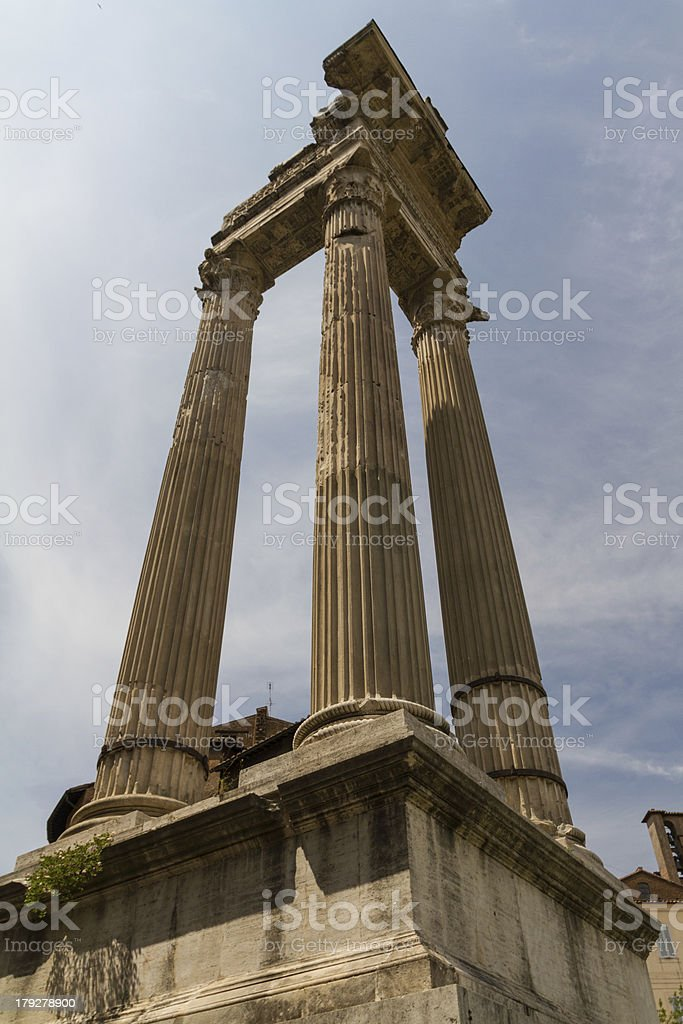 Ruins by Teatro di Marcello, Rome - Italy royalty-free stock photo