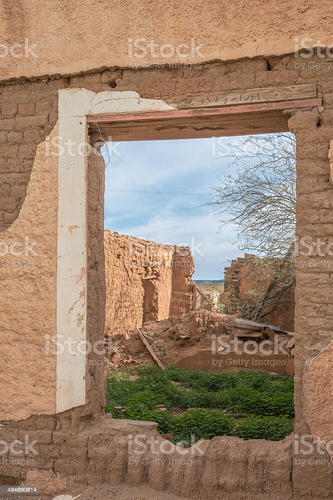 Ruins in an old village stock photo