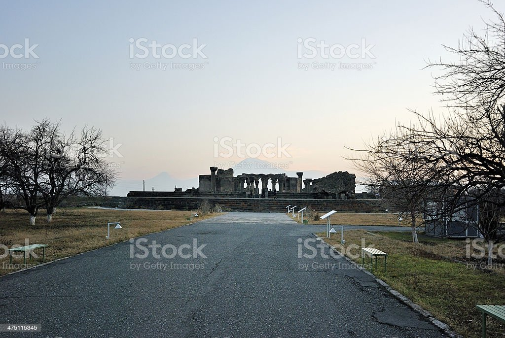 Ruins in Armenia stock photo