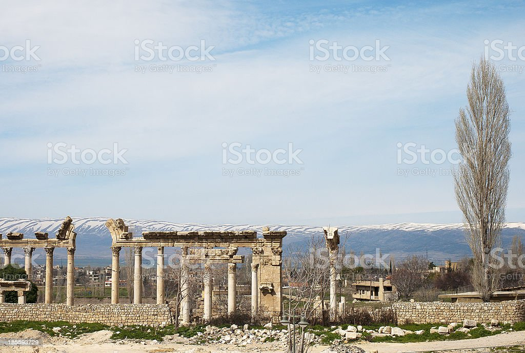 Ruins in Baalbek, Lebanon royalty-free stock photo