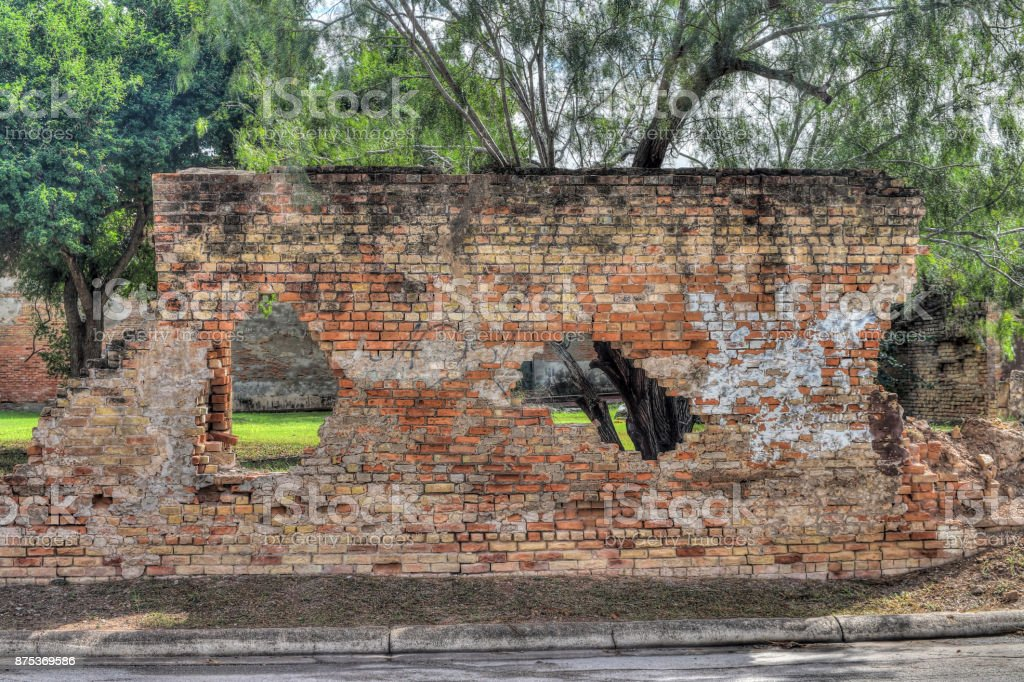 Ruins in Brownsville Texas stock photo